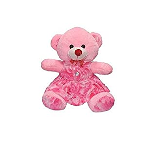 Yashika toys Soft Stuffed Doll Teddy Bear Girls and Kids Item (Pink, 25 cm)