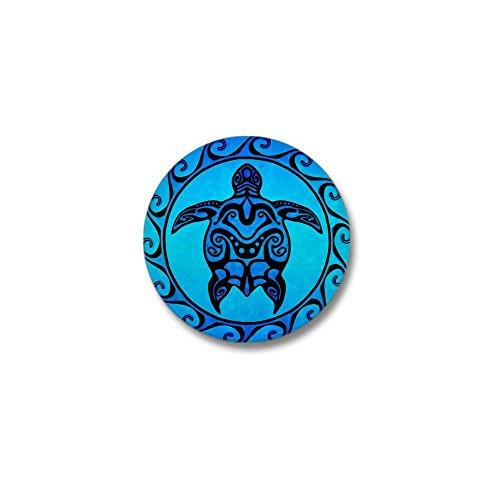Lapel Pins Samoa (CafePress Maori Ocean Blue Turtle 1