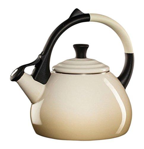 Le Creuset Enameled Steel 1.6 Quart Oolong Tea Kettle, Dune