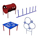 BarkPark Small Dog 4-Piece Agility Course Kit, Blue/Red