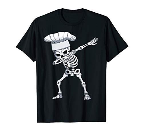 Halloween Dabbing Cook Skeleton Apparel, Chef Skull Dab Mens T-Shirt -