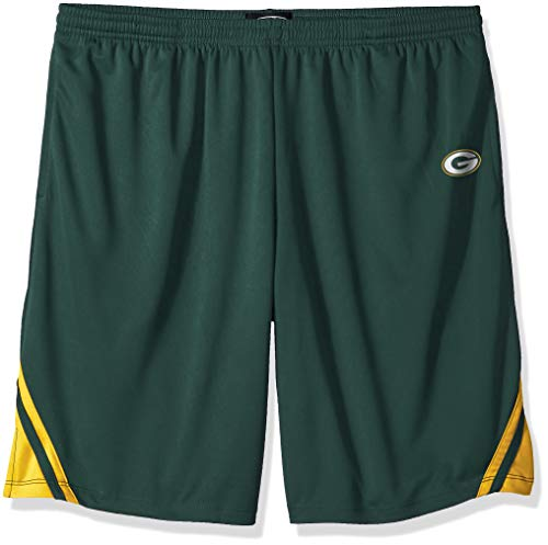 OTS NFL Green Bay Packers Male NFL Poly Dot Athletic Short, Dark Green, Large