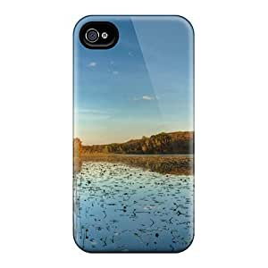 Excellent Design Autumn On The River Case Cover For Iphone 4/4s