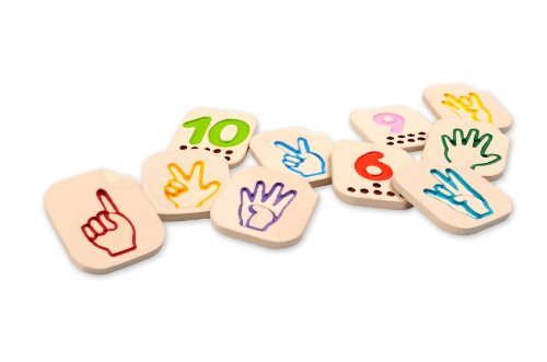 PlanToys Hand Sign Numbers 1 - 10 (Sign Language Games To Play In Class)
