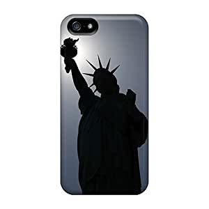 Fashion Tpu Case For Iphone 5/5s- Statue Of Liberty Silhouette Defender Case Cover