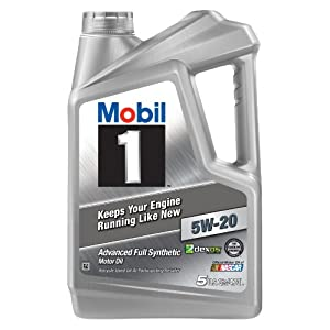 Mobil 1 120763 Synthetic Motor Oil 5W-20, 5 Quart