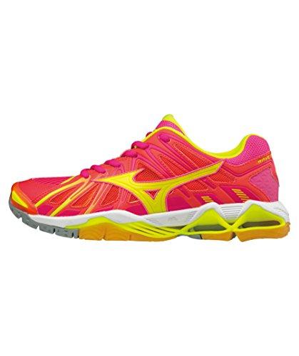 Mujer Wos Zapatos X2 315 Mizuno para de Tornado pink Wave Voleibol qx8BIFtw