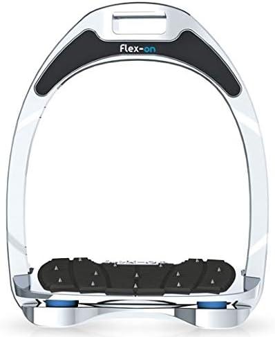 【Amazon.co.jp 限定】フレクソン(Flex-On) 鐙 アルミニウムレンジ Mixed ultra-grip フレームカラー:シルバー エラストマー:ライト ブルー 81388