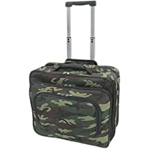 Rolling Camo Print Laptop Travel Case Briefcase Bag Camougflage