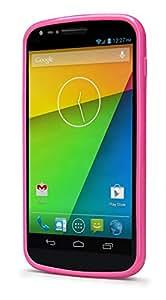 i-Blason Google Nexus 5 CandyGel Hybrid TPU + Hard Clear Case (Hybrid Pink)