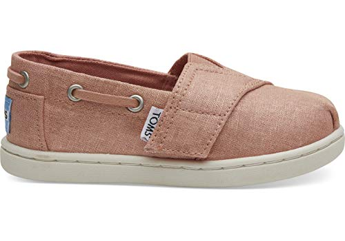 TOMS Kids Baby Girl's Bimini (Toddler/Little Kid) Coral Pink Shimmer Canvas 8 M US Toddler