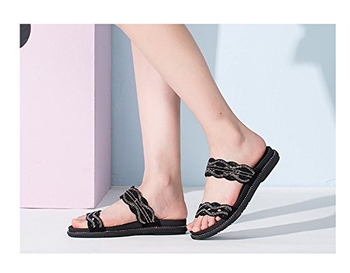 Summer Black With In Lace Cool Slippers wT4qRR