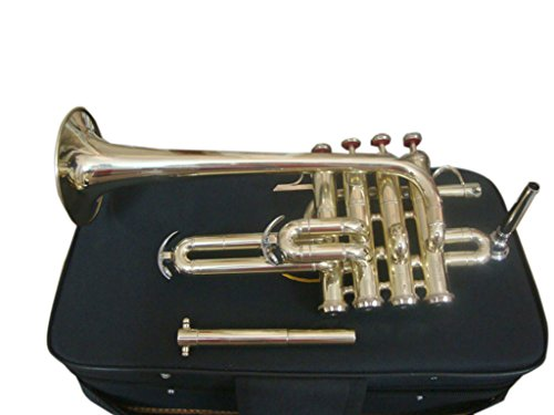 OSWAL Bb/A Brass Finishing Piccolo Trumpet With Free Case+Mouthpiece