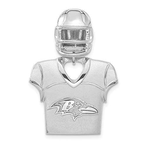 Sterling Silver Baltimore Ravens Jersey & Helmet Pendant