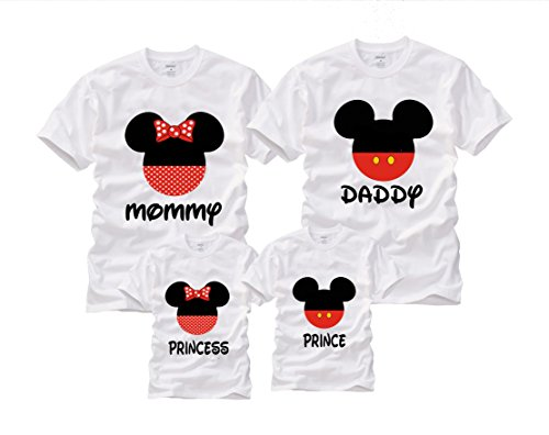 Wonder Labs Mickey Minnie Matching Family Mouse Disney Shirts T-Shirt (M, Mommy White) (Family Mickey Mouse Shirts)