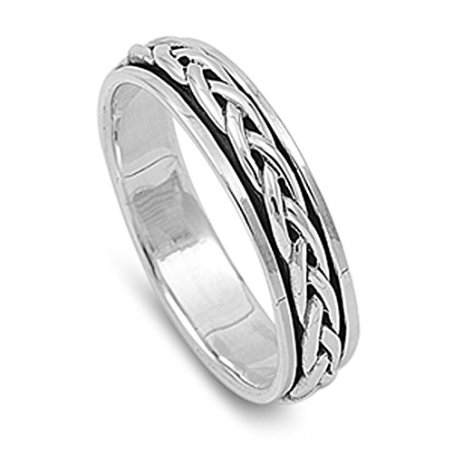 Men's Spinner Celtic Design Promise Ring New 925 Sterling Silver Band Size (Sterling Silver Mens Spinner)