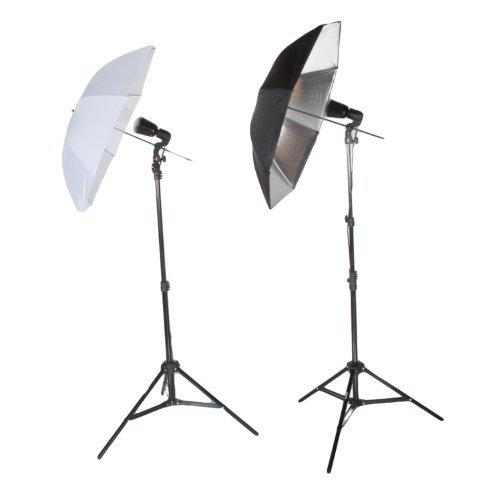 - Fovitec StudioPRO 90W/s Master Slave Two Strobe Umbrella Fill Hair Light Kit