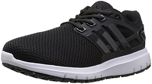 adidas Performance Men's Energy Cloud Wide m Running Shoe, Black/Utility Black/White, 14 2E US