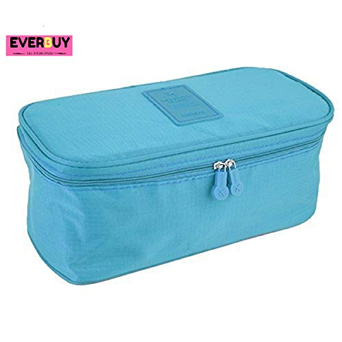 Everbuy ™ Travel Bag Suitcase Women Cosmetic Organizer for Lingerie Makeup Luggage Underwear Bra Pouch