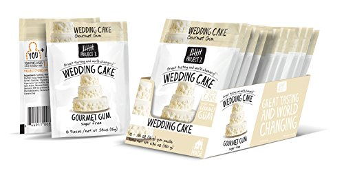 Project 7 Sugar-Free Gourmet Gum | Wedding Cake | Gluten Free | 12 Pack - 144 Pieces