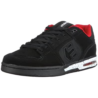 etnies Men's Chrome 02 Skate Shoe,Black/Red/White,11 M US