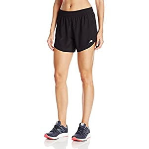"New Balance Women's Accelerate 5"" Shorts, Black, Medium"