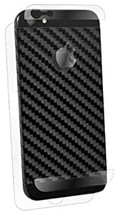 Bloutina BodyGuardz BZ-ASCB5-0912 Armor Carbon Fiber Protection Skin for Apple iPhone 5 - Style Cut - 1 Pack - Retail Packaging...
