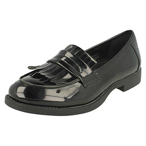 Damen SPOTON Slipper Schuhe/Spot auf/Slip On Schwarz