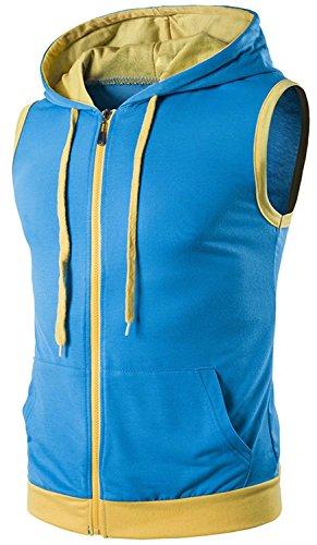 EMAOR Men's Lightweight Full-zip Sleeveless Hooded Vest With Zipper supplier