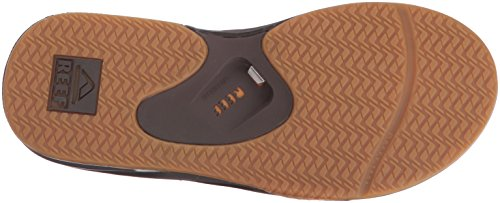 Reef Men's Leather Fanning Lux Sandal, Vintage Brown, 11 M US