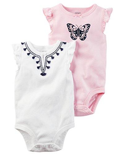 2 Pack Bodysuit Set (Carter's Baby Girls' 2-Pack Bodysuit Set 12 Months)