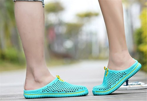 Slippers Sandal BININBOX Closed Breathable Hollow Toe Flat Shoe Green Mens Fq6qEx0