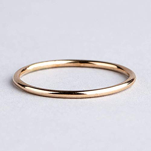 Size 10 Single Smooth Stacking Skinny Ring in 14K Gold Fill ()