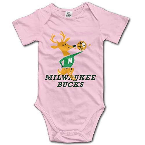 Price comparison product image NINJOE Baby Crawl Walk Milwaukee Giraffe Bucks Body Suit Pink 24 Months