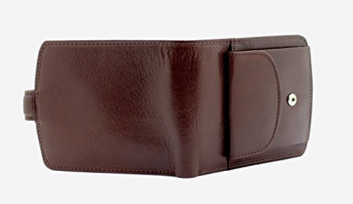 With Blocking fold Premium Gift 4009 RFID Leather Side Men's London Boxed Coin Wallet Bi Pocket A Topsum Genuine Brown Luxury wBxfqFn1WC