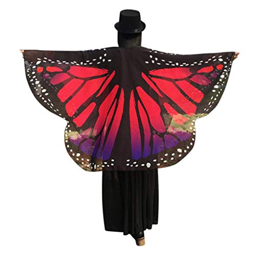 FEITONG Halloween Party Women Butterfly Wings Shawl Kimono