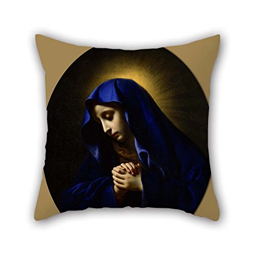 beeyoo Oil Painting Carlo Dolci - Mater Dolorosa Pillow Shams 20 X 20 Inches / 50 by 50 cm Gift Or Decor for Dining Room Play Room Divan Club Indoor Chair - Double Sides ()