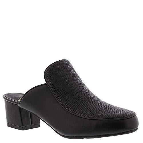 Beacon Womens Natasha Closed Toe Casual Slide Sandals, Black-Black, Size 11.0