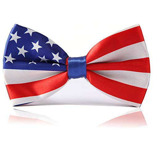 (Heypet Colorful Striped Bow Tie,Adjustable Bowtie Fashion Accessories for Pet Dog Cat DLJ15 (American Flag))