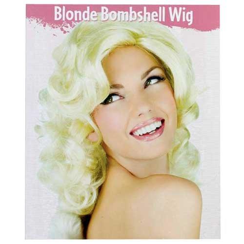 (Fun World Women's Morris Costumes Wig Blonde Bombshell, Yellow,)