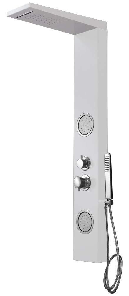 color blanco Sanlingo Columna de ducha con funci/ón masaje aluminio