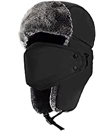 Winter Trooper Trapper Hat Hunting Hat Ushanka Ear Flap Chin Strap For Men and Women