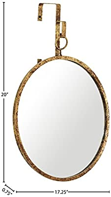 Rivet Rain Drop Hanging Mirror