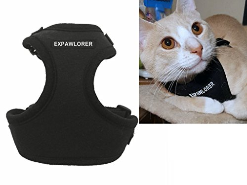 EXPAWLORER Escape Proof Cat Harness - Soft Mesh Adjustable Cat Harness Vest for Cats and Small Dogs Walking (D-ring Cat Harness)