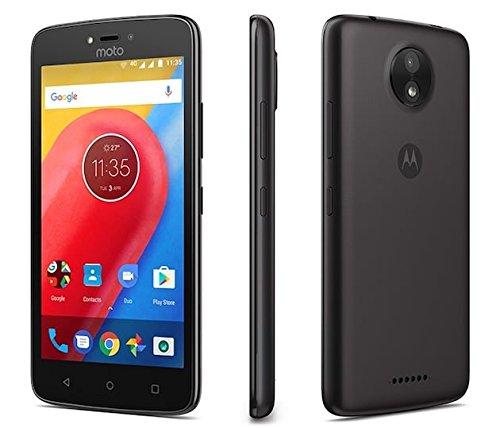 Motorola Moto C 4G LTE Unlocked XT1754 Quad Core 16GB Android 7.0 Dual Sim 5 Inch International Version (Starry Black) by Motorola