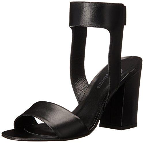 9840180bcf Delman Women's Abbie Dress Sandal, Black Soft Calf, ...