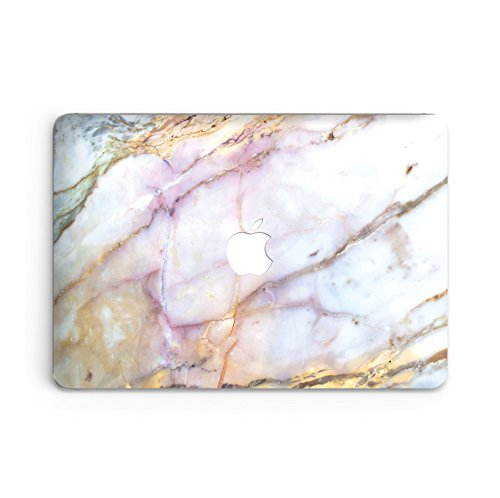 (GoodMoodCases Plastic Hard Case Cover for MacBook Pro Retina 13 inch 2013-2015 (A1502 & A1425) without CD Rom (Not fit Macbook Pro 13 2016) - Purple Pink Marble )