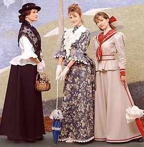 Edwardian Sewing Patterns- Dresses, Skirts, Blouses, Costumes Simplicity 8375 - Misses Victorian Costume Pattern - Size P (12 14 16) $34.99 AT vintagedancer.com