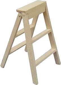 VOSAREA - Escalera de casa de muñecas de madera, escaleras de gran escarpado, pintura accesorio de decoradores miniaturas: Amazon.es: Hogar