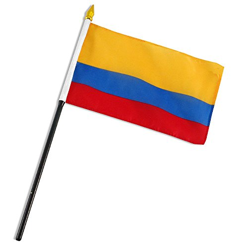 ALBATROS Colombia 4 inch x 6 inch Flag with Stick for Desk, Table for Home and Parades, Official Party, All Weather Indoors Outdoors